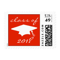 Class Of 2018 (Red Graduation Cap) Postage