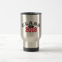 Class Of 2018 Red Travel Mug