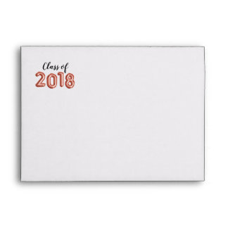 Class of 2018 Rose Gold Balloon Numbers Graduation Envelope