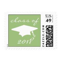 Class Of 2018 (Sage Green Graduation Cap) Postage