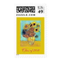 Class of 2018 (Van Gogh's Sunflowers) Postage