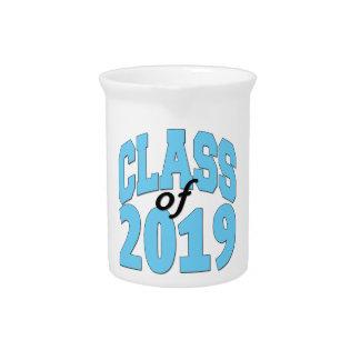 Class of 2019 blue drink pitcher