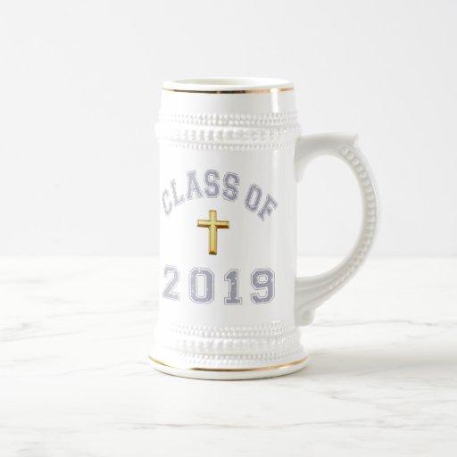 Class Of 2019 Christian Cross - Grey 2 Coffee Mug