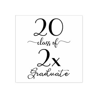 Class of 2019 Graduate Modern Typography Rubber Stamp