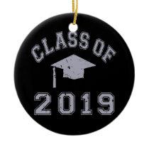 Class Of 2019 Graduation - Grey Ceramic Ornament