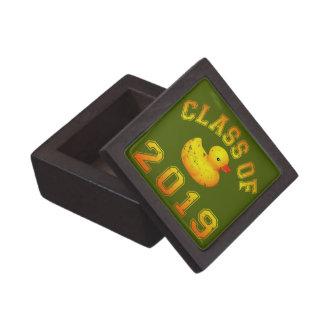 Class Of 2019 Rubber Duckie - Orange/Red 2 Keepsake Box
