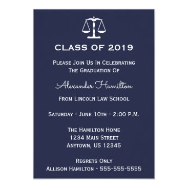 Class Of 2019 Scales Graduation Invite (Midnight)