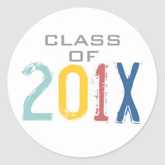 Class of 201X Colorful Graduation Sticker