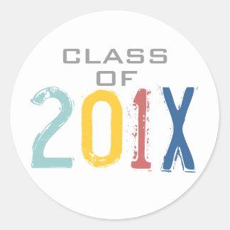 Class of 201X Colorful Graduation Sticker