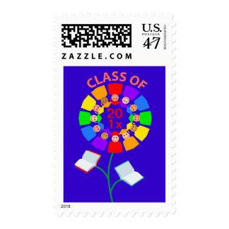 Class of 201x Rainbow Flower Stamp