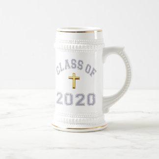 Class Of 2020 Christian Cross - Grey 2 Coffee Mugs