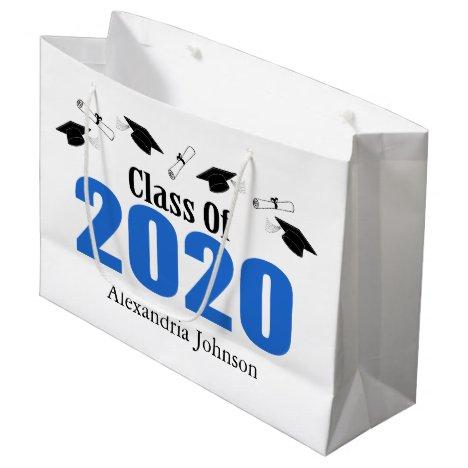 Class Of 2020 Graduation Gift Bag (Blue Caps)