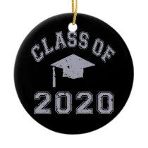 Class Of 2020 Graduation - Grey Ceramic Ornament
