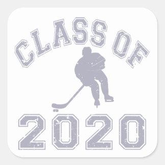 Class Of 2020 Hockey - Grey Square Sticker
