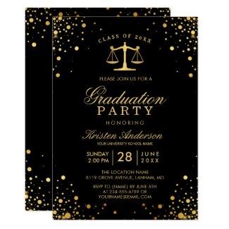 Class of 2020 Law School Graduate Graduation Party Invitation