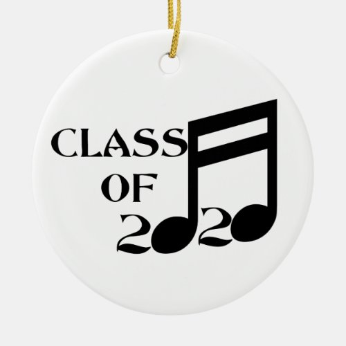 Class of 2020 Musical Notes Ceramic Ornament