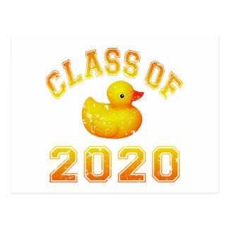 Class Of 2020 Rubber Duckie - Yellow Postcard