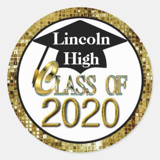 Class Of 2020 Sparkling Gold Graduation Seals