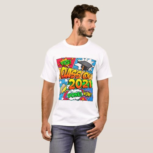 Class of 2021 Comic Book T-Shirt