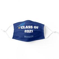 Class of 2021 Custom Graduation Blue Adult Cloth Face Mask