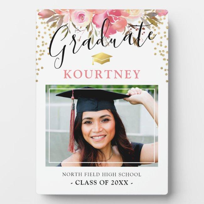 Class of 2021 Floral Graduate Photo Plaque