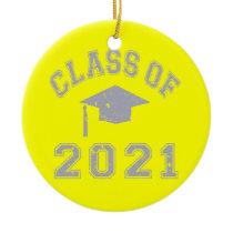 Class Of 2021 Graduation - Grey 2 Ceramic Ornament