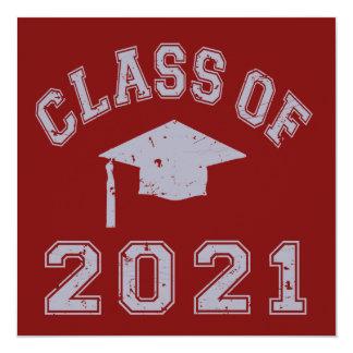 Class Of 2021 Graduation - Grey 2 Invitation