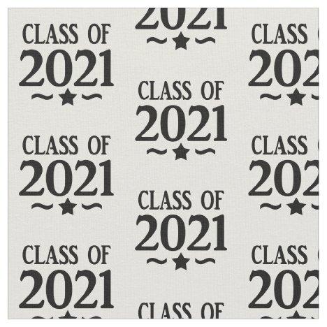 Class of 2021 Graduation Star Fabric