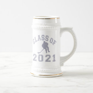 Class Of 2021 Hockey - Grey 2 Beer Stein