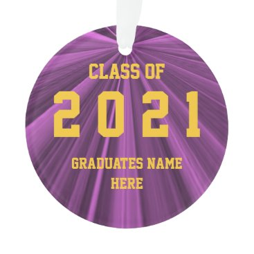 Professional Business Class of 2021 Maroon and Gold Ornament by Janz