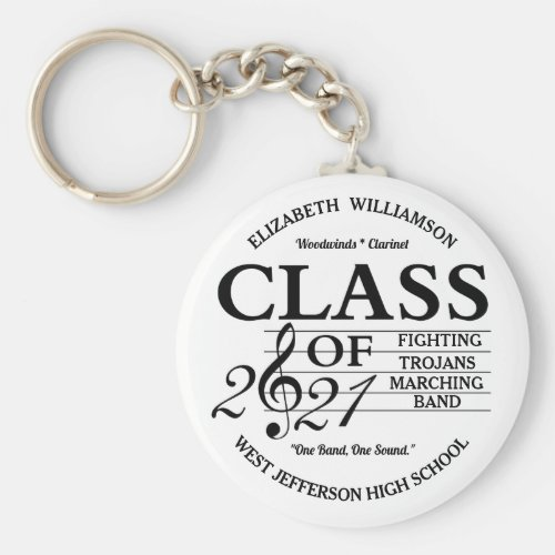 Class of 2021 Music Keychain