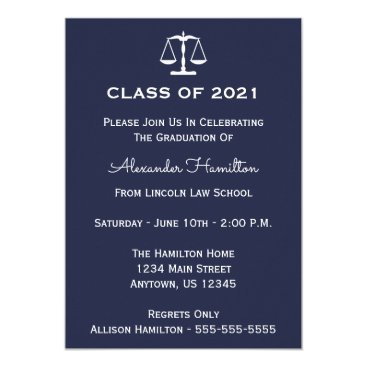 Class Of 2021 Scales Graduation Invite (Midnight)