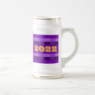 Class of 2022 Purple and Gold Beer Stein by Janz