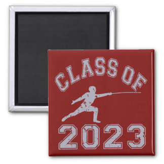 Class Of 2023 Fencing - Grey 2 2 Inch Square Magnet