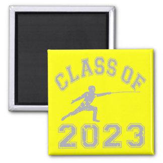 Class Of 2023 Fencing - Grey 2 Fridge Magnet