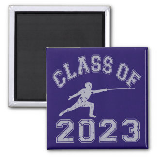 Class Of 2023 Fencing - Grey 2 Fridge Magnets