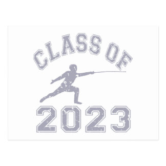 Class Of 2023 Fencing - Grey 2 Postcard
