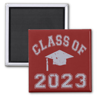 Class Of 2023 Graduation - Grey 2 Refrigerator Magnet