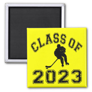 Class Of 2023 Hockey - Black 2 Fridge Magnets