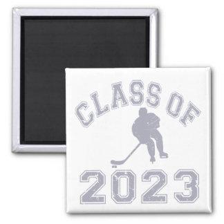 Class Of 2023 Hockey - Grey 2 Refrigerator Magnets