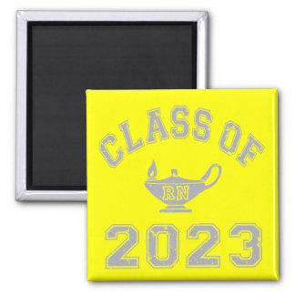 Class Of 2023 RN (Registered Nurse) - Grey 2 Refrigerator Magnet