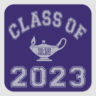 Class Of 2023 RN (Registered Nurse) - Grey 2 Square Sticker