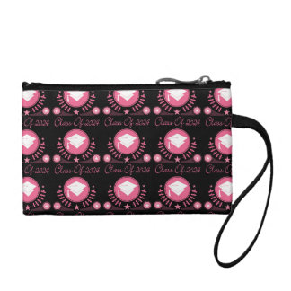 Class of 2024 Gift For Her Pink Graduate Hat Coin Wallet