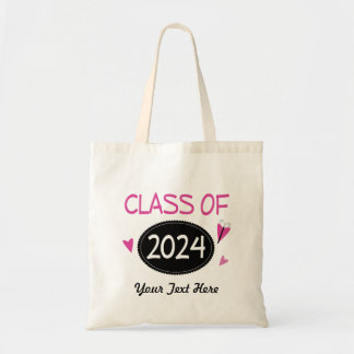 Class of 2024 Graduate Butterfly Tote Bag