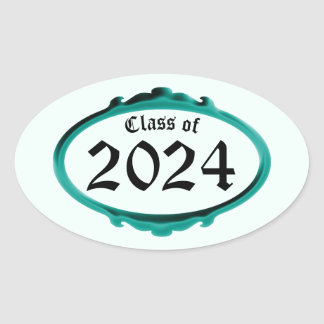 Class of 2024 Teal Frame Sticker by Janz
