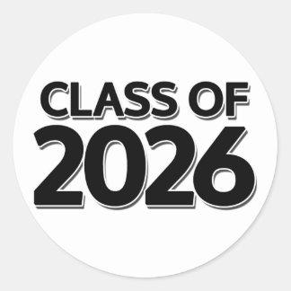 Class of 2026 classic round sticker