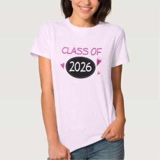 Class of 2026 Pink Butterfly T Shirt
