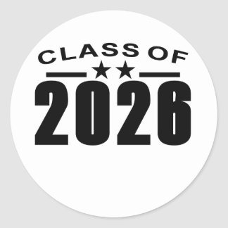 Class Of 2026 Shirts '.png Classic Round Sticker