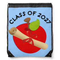 Class of 2027 Back to School Drawstring Backpack