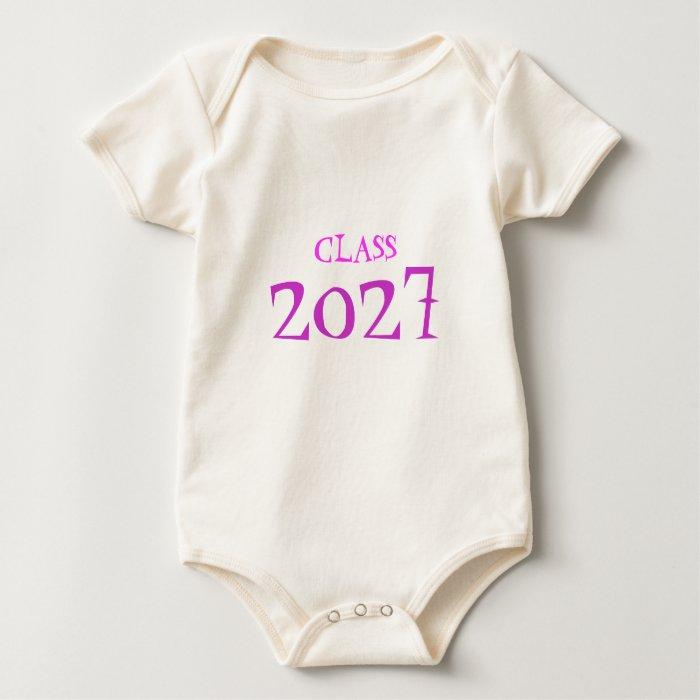 CLASS OF 2027 Infant GIRL Baby Bodysuit